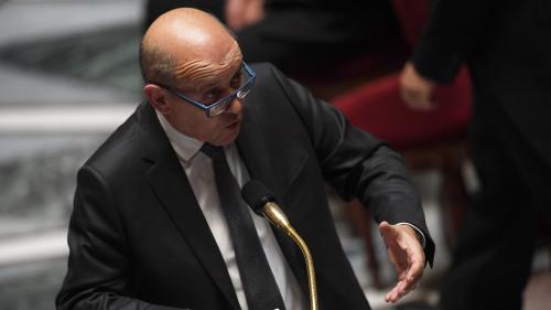 """Syrie : la France dispose d'un """"indice"""" sur l'usage d'arme chimique à Idlib, affirme Jean-Yves Le Drian"""