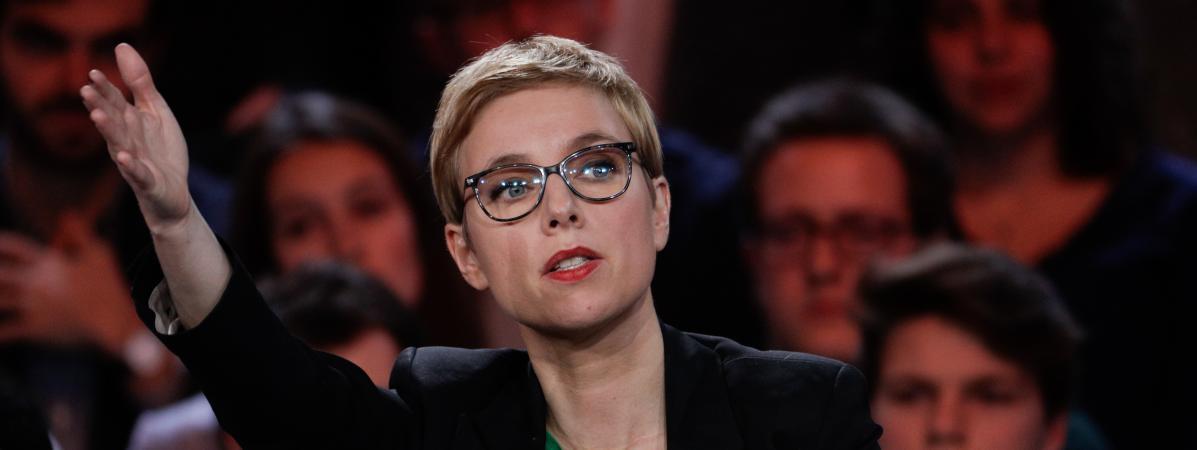 Clémentine Autain sur le plateau de France 2, le 24 janvier 2019.