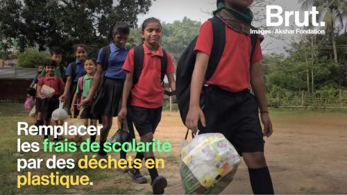VIDEO. En Inde, une école remplace les frais de scolarité par des déchets plastiques