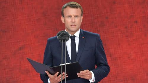 VIDEO. Jour J : Emmanuel Macron lit la lettre d'adieu du résistant Henri Fertet, fusillé à 16 ans