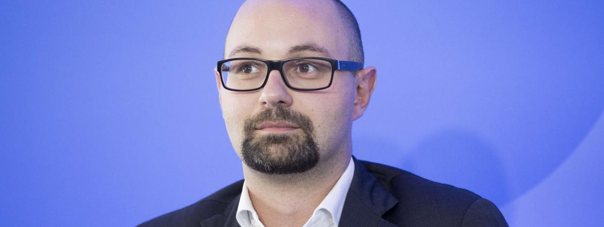 Thomas Guénolé lors du colloque au Conseil supérieur de l\'audiovisuel, le 6 octobre 2015.