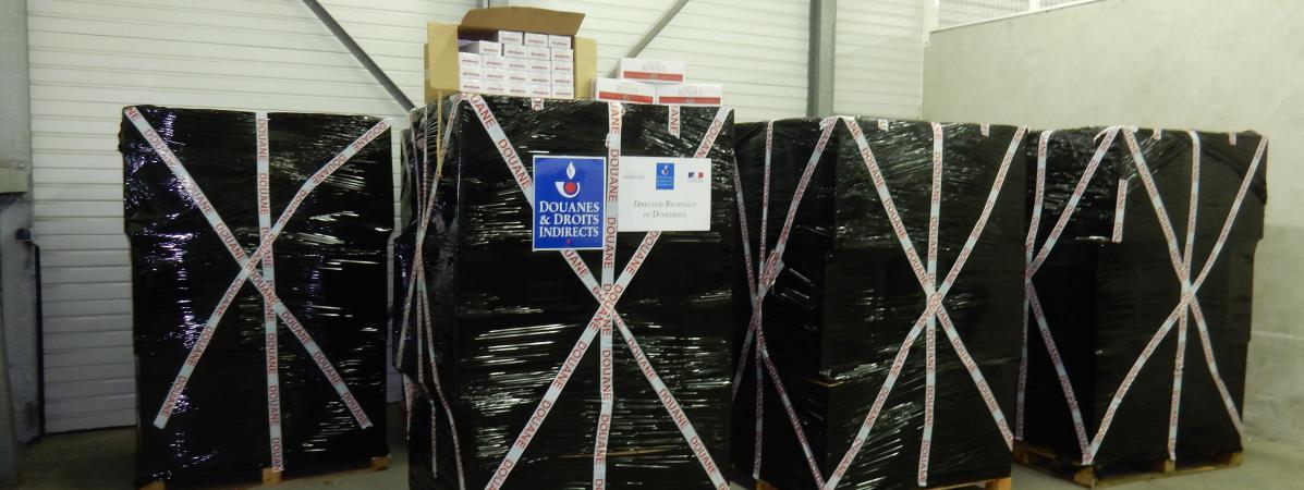 Calais : saisie record de six tonnes de cigarettes par les douanes