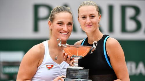 Roland-Garros : Kristina Mladenovic titrée en double dames avec Timea Babos