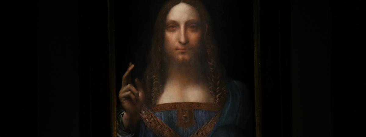 Le Salvator Mundi, attribué à Léonard De Vinci a été vendu 450 millions de dollars en 2017.