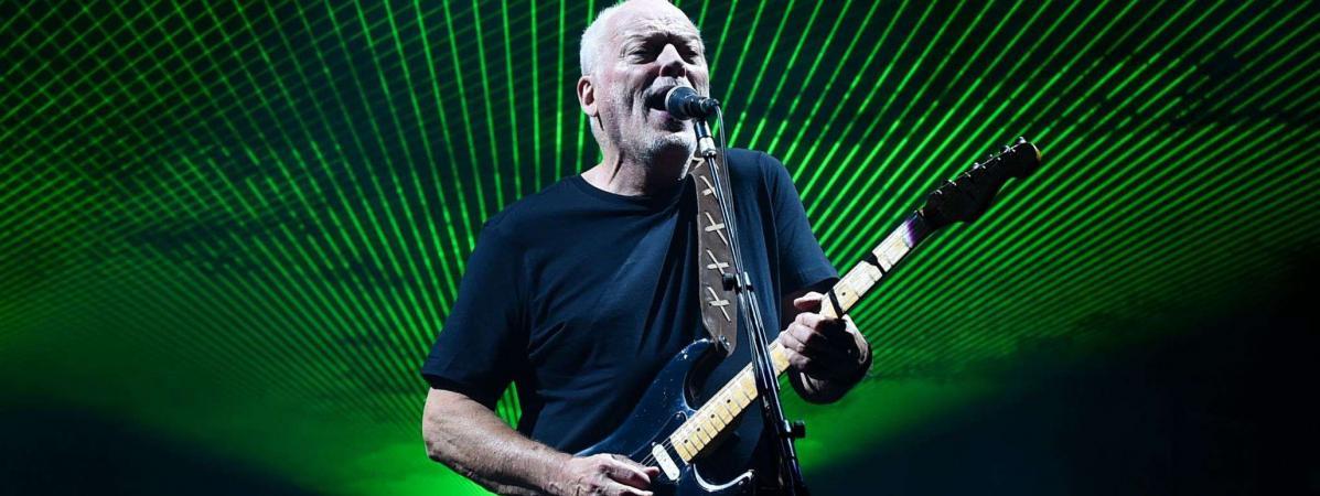 David Gilmour en concert au Royal Albert Hall de Londres le 23 septembre 2015.