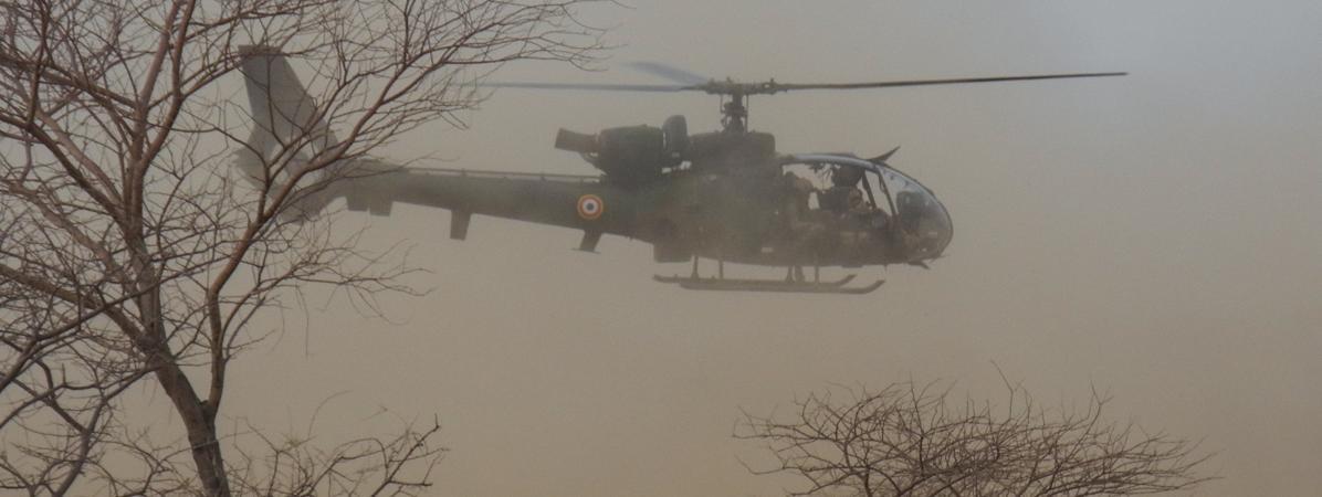 Un hélicoptère français au Mali, le 27 mars 2019.