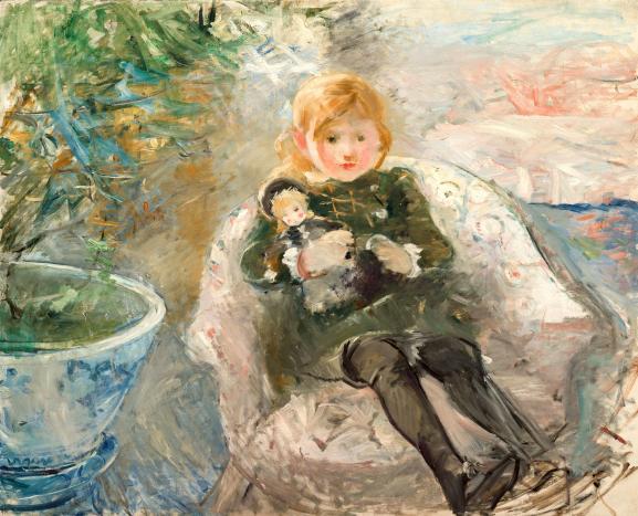 Berthe Morisot, Jeune fille à la poupée, 1884, Paris, collection particulière