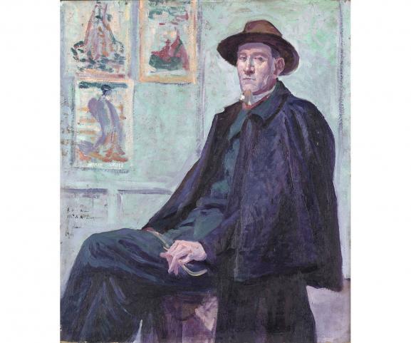Maximilien Luce : portrait de Félix Fénéon, 1901