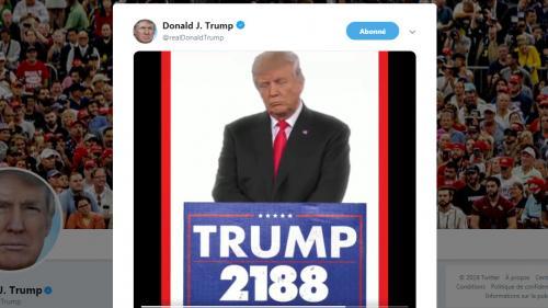 VIDEO. Etats-Unis : Donald Trump se verrait bien président à vie (mais c'est pour rire)