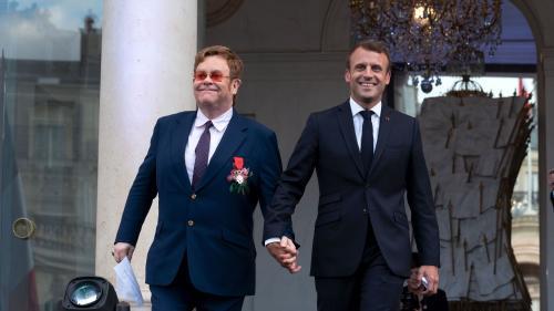 Elton John et Emmanuel macron appellent à la mobilisation contre le sida