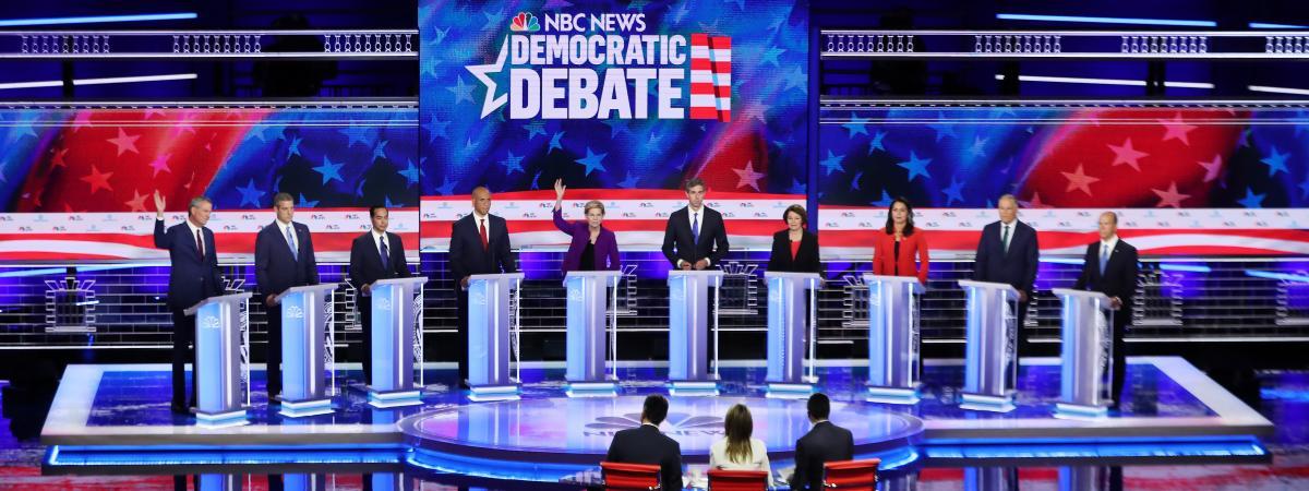Etats-Unis : climat, immigration, ironie de Trump… Ce qu'il faut retenir du premier débat de la primaire démocrate
