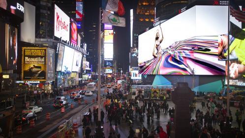 Mondial 2019 : le quart de finale entre la France et les Etats-Unis diffusé sur l'écran géant de Times Square à New York