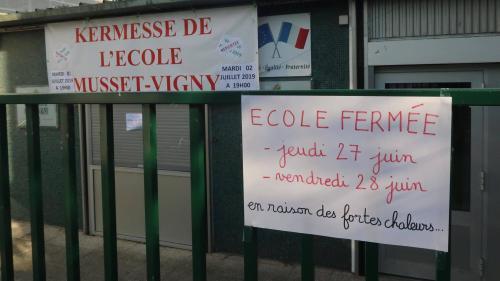 DIRECT. Canicule : 4 000 écoles sont fermées aujourd'hui en France, annonce Edouard Philippe