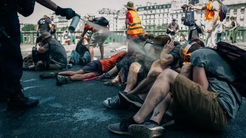 """Évacuation musclée d'une manifestation écologiste : """"Ce sera à la préfecture de police de s'expliquer"""""""