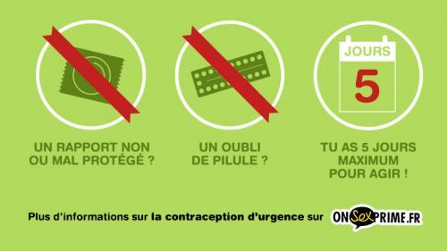Contraception d'urgence : il y a jusqu'à cinq jours pour agir, rappelle une nouvelle campagne
