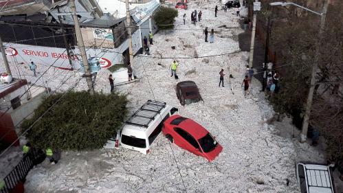 EN IMAGES. Mexique : la ville de Guadalajara engloutie par des chutes de grêle