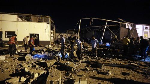 Libye : un camp de migrants bombardé
