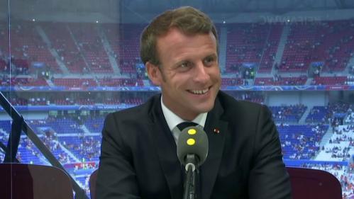 """VIDEO. Coupe du monde féminine de foot : """"Pour le sport féminin, les choses ne seront plus jamais les mêmes"""", assure Emmanuel Macron"""