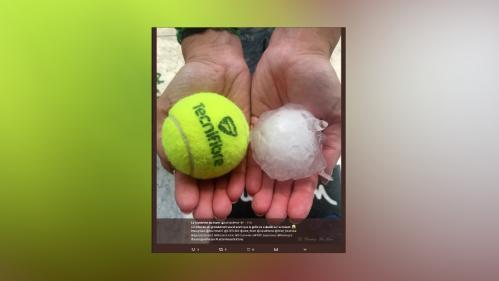 """VIDEOS. """"Un orage de balles de golf"""" : des impressionnantes chutes de grêle filmées dans la région Auvergne-Rhône-Alpes"""