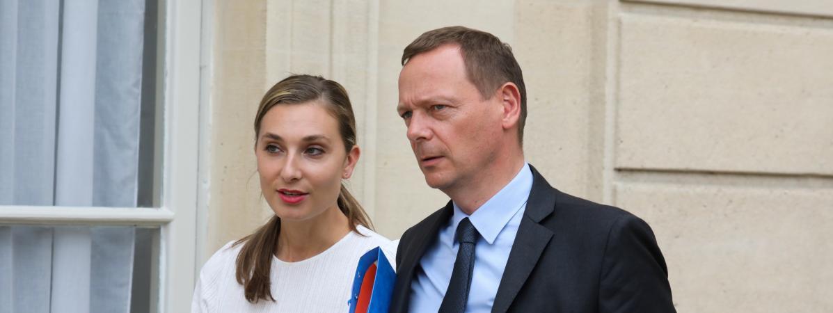 Emmanuel Bonne, le conseiller diplomatique du président de la République, le 24 mai 2019 à l\'Elysée, à Paris.