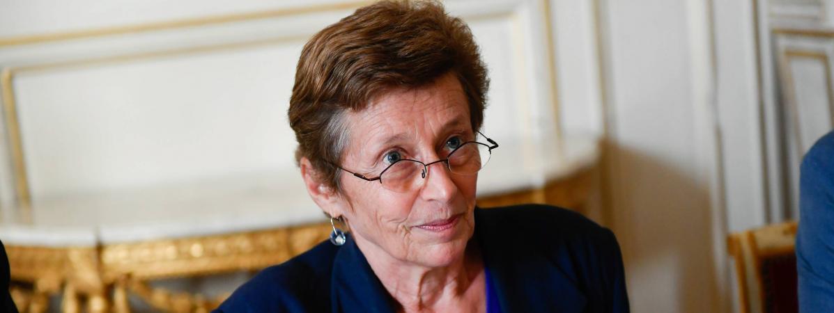 Nicole Klein, alors préfète de Loire-Atlantique, lors d\'une discussion sur l\'avenir de l\'aéroport de Notre-Dame-des-Landes, le 12 octobre 2018.