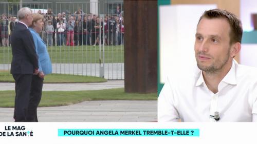 Nouvelle crise de tremblements d'Angela Merkel