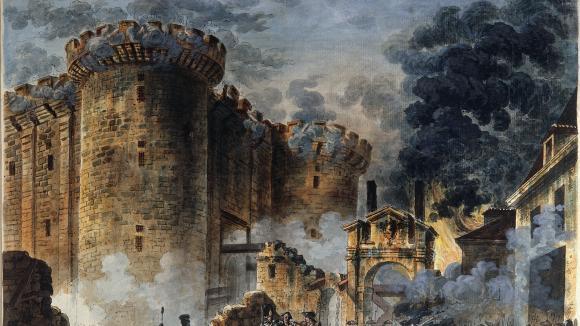 La prise de la Bastille, tableau de Jean-Pierre Houel, au musée Carnavalet à Paris.