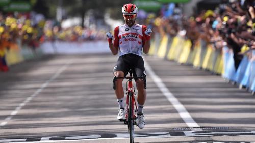 VIDEO. Tour de France : Thomas De Gendt gagne à Saint-Etienne, Julian Alaphilippe récupère le maillot jaune