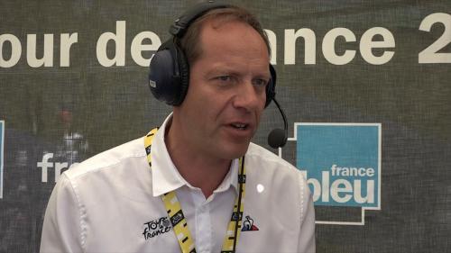"""VIDEO. Tour de France : Christian Prudhomme """"impressionné"""" par le duo Alaphilippe-Pinot"""