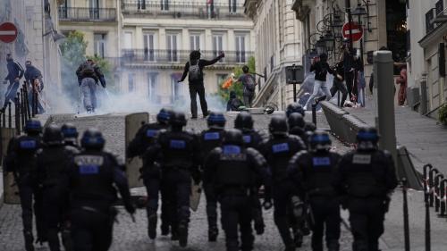 VIDEO. Des tensions sur les Champs-Elysées après le défilé du 14-Juillet