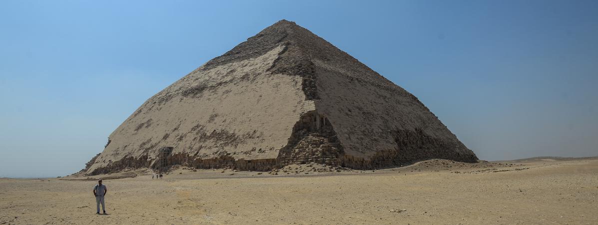 Pyramide de Sneferu au sud du Caire en Egypte le 13 juillet 2019