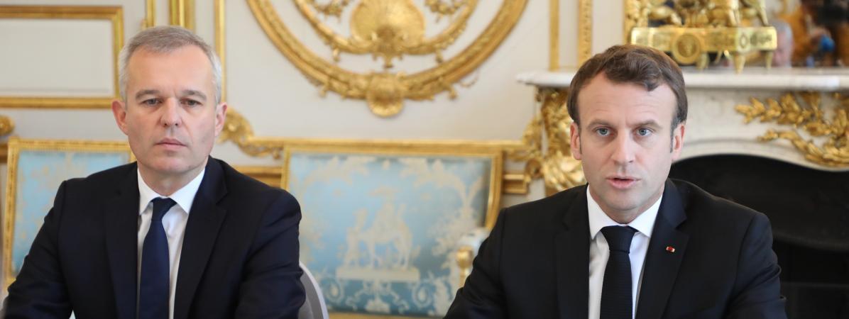 """Affaire Rugy : """"Je prends des décisions sur la base de faits (...), sinon cela devient la République de la délation"""", déclare Emmanuel Macron"""