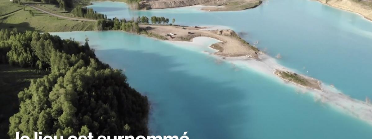 """VIDEO. Les """"Maldives"""" de Sibérie sont en fait le déversoir d'une centrale électrique"""