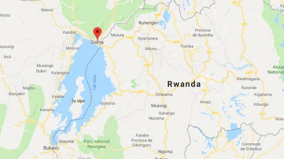 Capture d\'écran de la ville de Goma, en République démocratique du Congo.