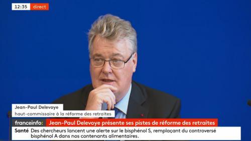 """""""C'est un système plus juste"""", assure le haut-commissaire Jean-Paul Delevoye en présentant ses pistes pour la réforme des retraites"""