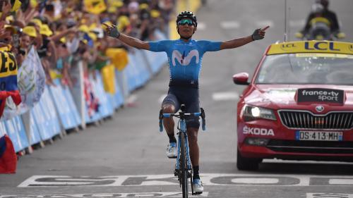 Tour de France : Le bouquet pour Quintana, les pois pour Bardet et le jaune toujours sur les épaules d'Alaphilippe à Valloire