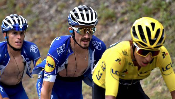"""VIDEO. Tour de France : """"Je suis fier de ce que j'ai fait"""", se console Julian Alaphilippe"""
