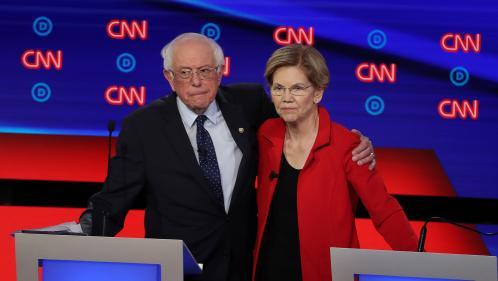 Etats-Unis : Elizabeth Warren et Bernie Sanders cibles des modérés lors du débat démocrate