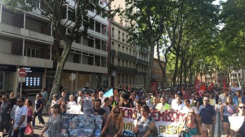Toulouse : des centaines de manifestants en hommage à Steve Maia Caniço