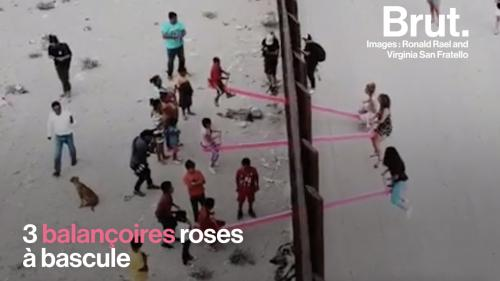 VIDEO. Grâce à des balançoires à bascule, ils jouent ensemble à la frontière américano-mexicaine