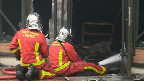 VIDEO. Hauts-de-Seine : un incendie détruit entièrement le marché couvert à Levallois-Perret