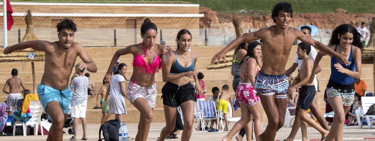 A la nouvelle piscine de Rabat, les Marocaines fuient le harcèlement sur les plages