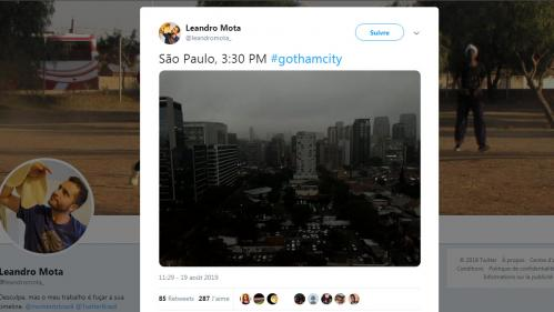 Brésil : l'Amazonie brûle, le ciel de Sao Paulo noirci par les fumées des incendies