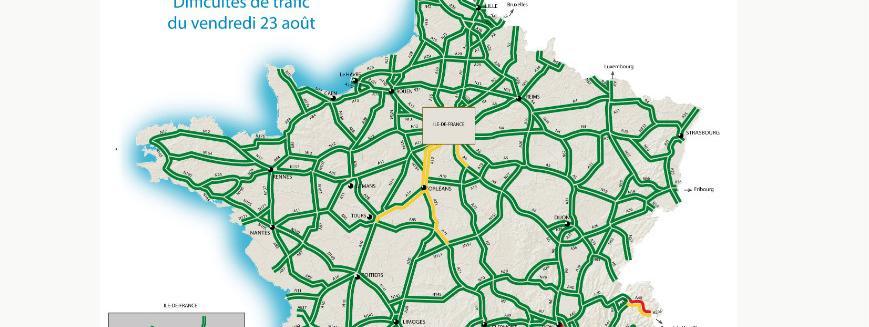 Bison Futé : la circulation sera rouge vendredi dans le sud et orange sur la moitié nord
