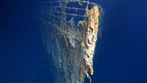 """VIDEO. Des images inédites du """"Titanic"""" montrent la dégradation de l'épave"""