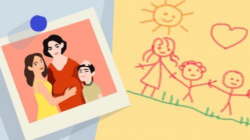 """""""On n'a pas attendu la loi de bioéthique pour exister"""": conçus par PMA, des enfants de mères lesbiennes témoignent"""