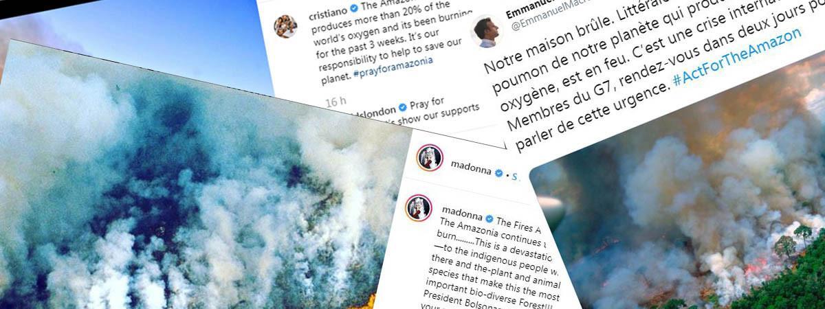 Incendies en Amazonie : attention aux fausses photos, partagées par des personnalités (dont Emmanuel Macron)