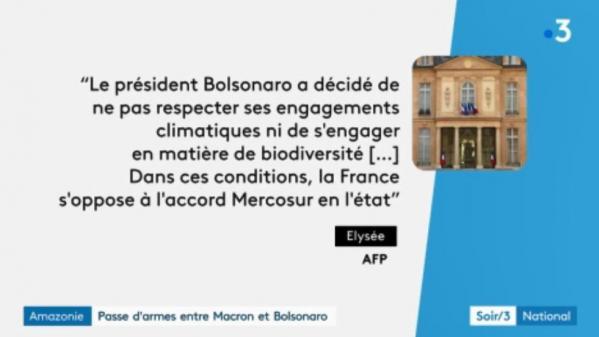 Amazonie : passe d'armes entre Macron et Bolsonaro en vue du G7