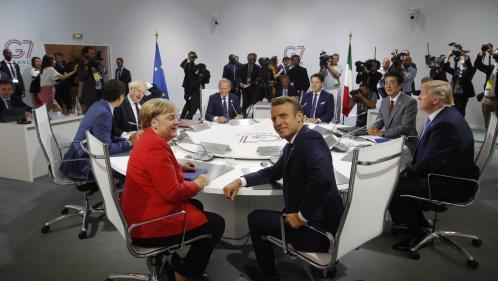 """VIDEO. Le G7 n'a pas donné de """"mandat formel"""" à la France pour négocier sur le nucléaire iranien, prévient Macron"""