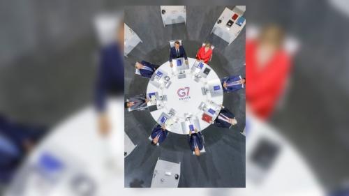 Cette photo en plongée des dirigeants du G7 a (beaucoup) amusé les internautes